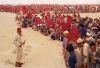 كما نظم مسيرة الخضراء لاسترداد سيادة الصحراء المغربية من أسبانيا عام 1975، فانطلق المغربيون حاملين كتاب الله ومثلوا أسلوب حضاري للتعبير عن حقهم