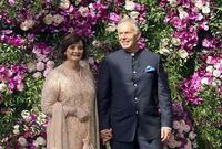 كما حضر رئيس الوزراء البريطاني السابق توني بلير وكان في طليعة السياسين الذين حضروا الحفل