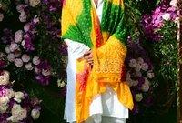 وحضر النجم جاكي شروف بزي هندي تقليدي