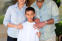 الالا سلمى زوجة محمد السادس ملك المغرب رفقة أبنائها الأمير حسن والأميرة خديجة