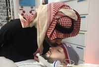 وكان أول نشاط يقوم به الأمير الوليد بن طلال بعد الإفراج عنه هو زيارة ابن شقيقه وتقبيل رأسه