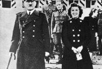 وفي عام 1945 تزوج هتلر وإيفا براون لمدة لم تتجاوز 40 ساعة.. أَي قبل انتحارهما بيوم واحد