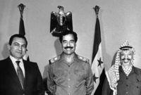 مع ياسر عرفات وحسني مبارك
