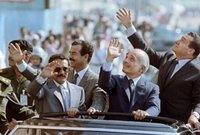 مع مبارك والملك الحسين وعلي عبد الله صالح