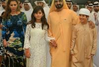 لقطات لحاكم دبي والأميرة هيا مع أبنائهم