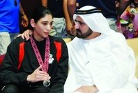 أبناء حورية أحمد المعاش وهي جزائرية الجنسية، الشيخة ميثاء مواليد 5 مارس 1980