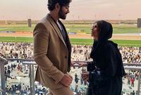 حيث أبدي المتابعين إعجابهم بوسامة زوجها متسائلين عن جنسيته هل هو هندي أم عربي؟