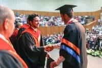 أنهى دراسته في التاريخ الدولي من جامعة جورج تاون في مايو 2016