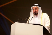 ذكر بأن والده الشيخ سلطان القاسمي كان داعمه الأكبر ومحترمًا لشغفه الفني منذ صغره