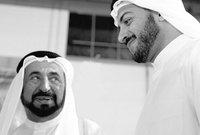 الشيخ خالد مع والده الشيخ سلطان القاسمي