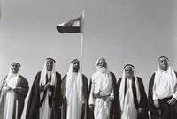 قام بالتعاون مع الشيخ راشد بن سعيد آل مكتوم حاكم دبي بالاتفاق مع 4 إمارات أخرى هي الشارقة، عجمان ، أم القيوين، الفجيرة على إعلان الاتحاد بينهم عام 1972 ويتم تأسيس دولة الإمارات ويصبح هو أول رئيس لها