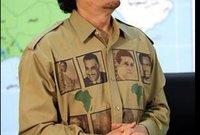 من أشهر تلك الأزياء هي التي وضع عليها صورة الزعيم المصري الراحل جمال عبد الناصر والزعيم الجزائري أحمد بن بلة