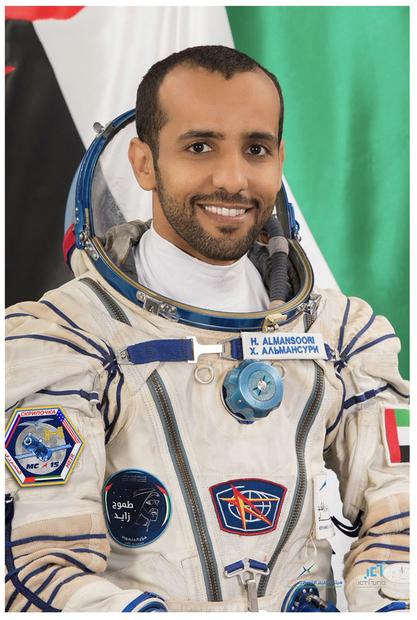 تنطلق غدًا مركبة فضاء على متنها هزاع المنصوري أول رائد فضاء إماراتي إلى محطة الفضاء الدولية محققة حلم الشيخ محمد بن راشد آل مكتوم في وصول الإمارات إلى الفضاء