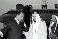 الإمارات شاركت في الحظر العربي للنفط للدول المؤيدة لإسرائيل، وقدم الشيخ زايد مساعدات مالية لمصر بقيمة 100 مليون دولار