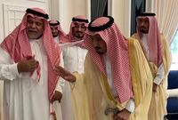 الملك سلمان وابن أخيه الأمير بندر