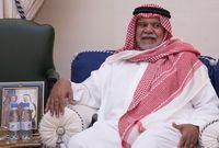 الأمير بندر بن سلطان بن عبد العزيز آل سعود في عزاء والدته