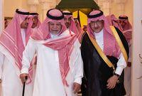 الأمير محمد بن نايف بن عبد العزيز يقدم واجب العزاء للأمير بندر