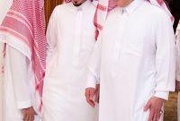 أبناء الأمير سلطان بن عبد العزيز الأمير فيصل والأمير مشعل في عزاء والدة أخيهم الأمير بندر بن سلطان