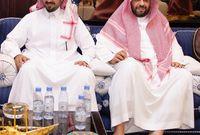 الأمير سلمان بن سلطان بن عبد العزيز والأمير فيصل بن خالد بن سلطان أمير منطقة الحدود الشمالية
