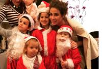 أنابيلا هلال مع أطفالها