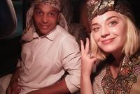 صورة لها أثناء زيارتها لمصر