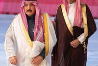 الأمير أحمد بن عبدالعزيز وأبنه الأمير نايف