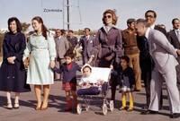 الملكة علياء والملك حسين برفقة أطفالهم