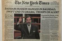 أثار حادث إعدام صدام غضب الملايين في العالم الإسلامي خاصة أنه تم تنفيذه في صبيحة يوم عيد الأضحى كما أن الكثيرون رأوا أنه تم إعدامه بطريقة غير إنسانية ولا تليق برئيس سابق لدولة كبرى بحجم العراق