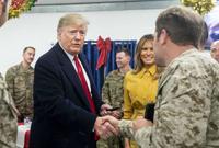 زارها الرئيس الأميركي دونالد ترامب برفقة زوجته ميلانيا بشكل مفاجئ في ديسمبر عام 2018 للاحتفال مع جنوده بعيد الميلاد