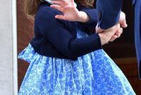 الأمير ويليام برفقة جورج وتشارلوت اثناء ذهابهم لرؤية أخيهما الثالث لأول مرة