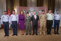 وحضر مراسم التقليد والدتها الملكة رانيا بجانب شقيقها الأكبر ولي العهد الأمير الحسين بن عبد الله بالإضافة إلى رئيس هيئة الأركان وقائد سلاح الجو الملكي ونخبة من المسئولين العسكريين في الأردن