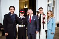 وحضر احتفالية تخريج الأميرة سلمى العام الماضي من الأكاديمية جميع أفراد أسرتها بالكامل حيث حضر الملك عبد الله والملكة رانيا وأشقاؤها الأمير الحسين ولي العهد والأميرة إيمان