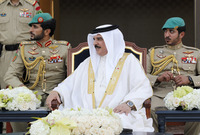 الزوجة الثانية للملك حمد، هي السيدة الكويتية شيمة حسن الخريش العجمي، أنجب منها الأمير ناصر والأمير خالد.
