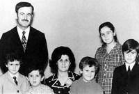 تزوج من أنيسة مخلوف عام 1950 رغم معارضة أسرتها للزواج بسبب تعارض انتماء آل مخلوف الحزبي مع انتماء حافظ الأسد البعثي