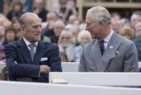 صورة للأمير تشارلز مع والده الأمير فيليب الذي لا يزال على قيد الحياة
