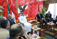 في عام 2019 تم حل الخلافات بينه وبين مسئولي الأهلي ليعود إلى الرئاسة الشرفية ويعلن عودته لدعم الأحمر من جديد