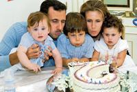 أنجبت أسماء لبشار الأسد ابنان هما «حافظ وكريم» وابنة واحدة وهي «زين»