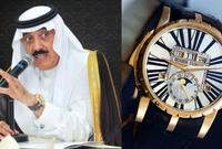 بينما يمتلك الأمير متعب بن عبد الله بن عبد العزيز ساعة من ماركة Roger Dubis
