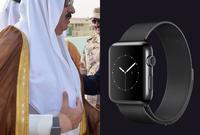 كما يمتلك ساعة من طراز Apple Series 2