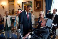 هوكينج مع الرئيس الأمريكي باراك أوباما
