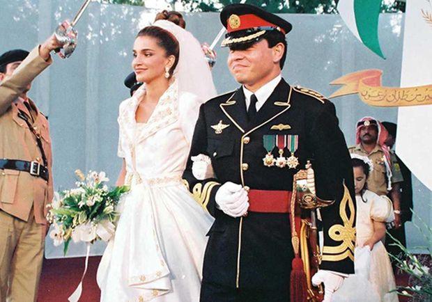 في 9 يونيو عام 1993 عُقدت مراسم حفل زفاف ولي العهد آنذاك الأمير عبد الله بن الملك الحسين على السيدة رانيا