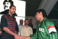 كما صرح أحد اللاعبين العراقيين بأن لاعبي كرة القدم أُجبروا على ركل كرة قدم خرسانية عقابًا لهم بسبب فشلهم في التأهل لنهائيات كأس العالم 1994