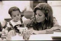 قامت الملكة علياء بتبنيها في عام 1973، وكانت تبلغ حينها 6 أشهر فقط بعد أن تخلى عنها والدها، بعدما سقطت على منزلهم طائرة (توبوليف)