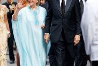 هيلاري كلينتون المرشحة الرئاسية الأمريكية السابقة وزوجة الرئيس الأمريكي السابق بيل كلينتون