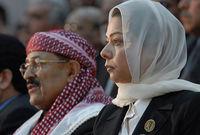 تعد مطلوبة من السلطات العراقية بوصفها أحد أركان النظام العراقي السابق، وتم طلب تسليمها من الأردن إلى العراق دون أن تستجيب الأردن