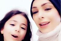 أمل حجازي وابنتها لارين