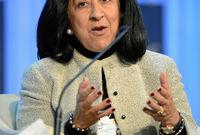 في المركز السادس تأتي السعودية لبنى العليان، والتي تشغل منصب رئيس مجلس إدارة بنك ساب