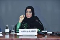 الإماراتية أمل القبيسي.. وهي أول امرأة إماراتية وعربية تتولى رئاسة برلمان بلادها في العالم العربي