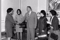 حيث اختارها عبد الناصر لمنصب وزيرة للشؤون الاجتماعية في عام 1962، أسست عدة مشاريع اجتماعية لخدمة المرأة المصرية منها مشروع الأسر المنتجة، ومشروع الرائدات الريفيات