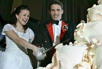 صورة من حفل زفافه